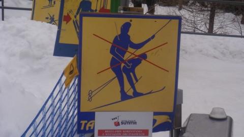 Verboden te … in de skilift??